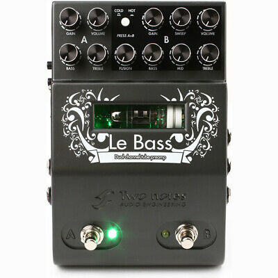 Two Notes Audio Engineering Le Bass 2-Ch Preamp Guitar Effects Pedal Stompbox