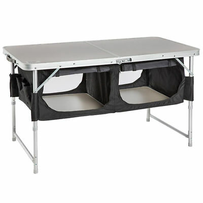Explore Planet Earth Camp Bi-Fold Outdoor Camping Table With Pantry (Cf3001)