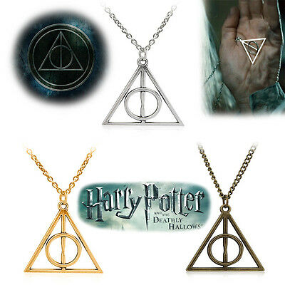Harry Potter The Deathly Hallows inspired Triangle Pendant Necklaces USA Direct!