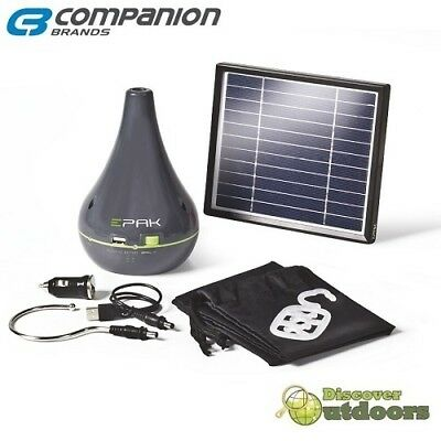 New Companion EPAK Lithium LED Light Kit - USB, Solar & 12V Rechargeable 4000mAh
