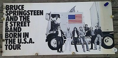 Original BRUCE SPRINGSTEEN-Born In The USA-Promotional POSTER-1984 CBS Records
