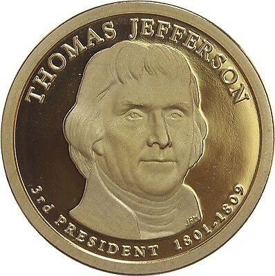 """2007 S Thomas Jefferson Presidential Dollar """"PROOF"""" US Mint Coin (Discounted!)"""