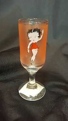 "Vintage Betty Boop 4"" Footed Liquior Shot Glass"
