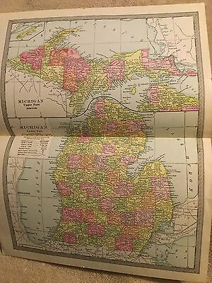 1905 Michigan Map