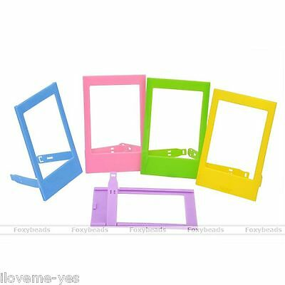 5pcs Instax Mini Polaroid Camera Stand Photo Frame Plastic DIY Table Home Decor