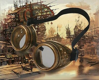 1 Pair Of  Medieval Victorian Stempunk Goggles Cosplay 2 Colors 5.5 Inch