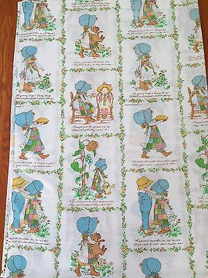Vintage Holly Hobby Flat Twin Sheet or Cutter Fabric