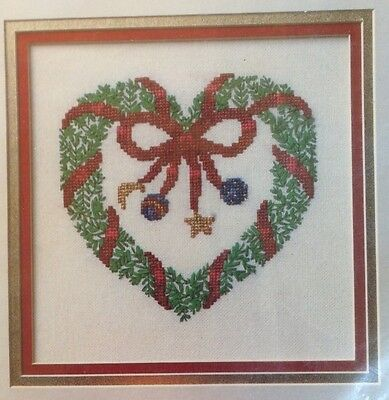 "True Colors Ribbon Embroidery Kit - Christmas Heart Wreath 7"" x 7"""