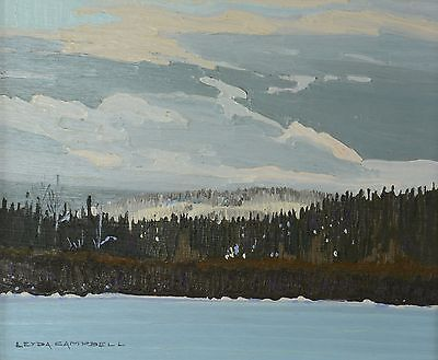 Leyda Campbell Original Oil Painting Lake Landscape Canadian Listed