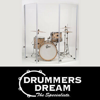 Drum Screen 5-Section Acrylic Clear Perspex Drum Shield / Isolation Panels