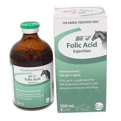 Folic Acid Injection Horse Equine 100ml Health Supplement