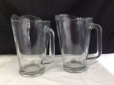 Clear Glass Beer Pitcher 9 Inch 55 Oz (2 Total)
