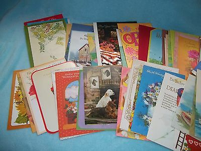 Variety Of Used Greetings Cards For Crafting  50 Total
