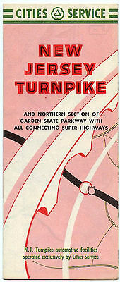 1958 Cities Service New Jersey Turnpike & Northern Garden State Parkway Brochure