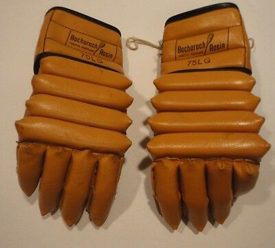 Vintage Bacharach Rasin Peck Auer Leather Lacrosse/ Hockey Gloves - Model 75LG