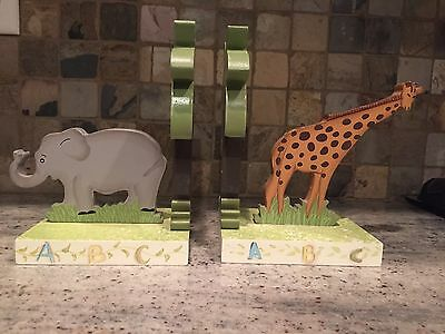 Baby Safari Animals Bookends; set of 2