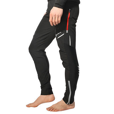 RockBros Bicycle Pants Bike Tights Men's Long Pants Reflective Trousers Black
