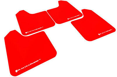 RALLY ARMOR UNIVERSAL (NO MOUNTING HARDWARE) UR Red Mud Flaps w/ White Logo