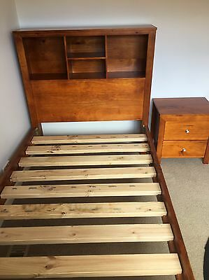 King Single Bed Frame And Bedside Table