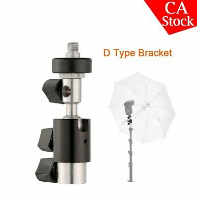 D Type Bracket Umbrella Holder Swivel Light Stand Godox Yongnuo Flash Speedlite