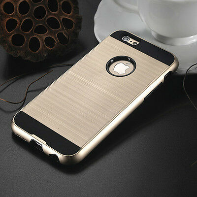 Anti-shock Hard Back Gold Hybrid Armor Case Cover For Iphone 6/6s {SK44