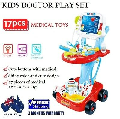 2017 Children Doctor Medical Nurse Hospital Role Pretend Play Kids Toy Set RED