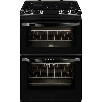 Zanussi Avanti ZCI68000BA Electric Induction Cooker and Double Oven in Black