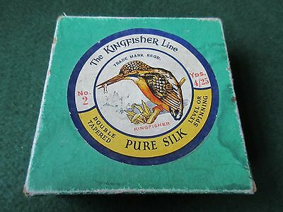Silk fishing line and box by Kingfisher