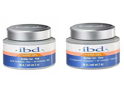 IBD UV builder gel 2oz 56g hard gels polish clear pink 60402 60412