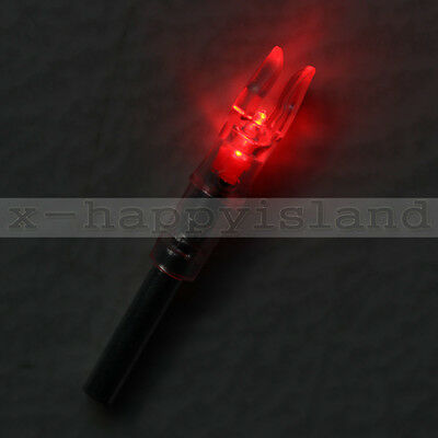 3PCS S Nockturnal Lighted Arrow Nocks Bolts 6.2mm Red for Compound Bow Hunting