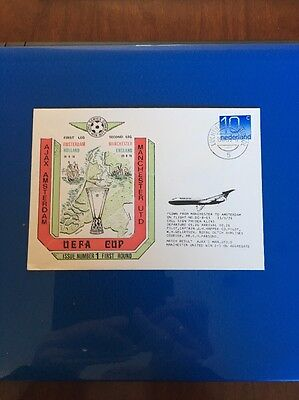 Ajax V Manchester United First Day Cover. Flown. UEFA Cup 1976