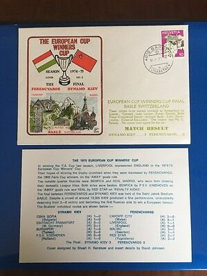 Ferencvaros V Dynamo Kiev First Day Cover. European Cup Winners Cup Final 1974