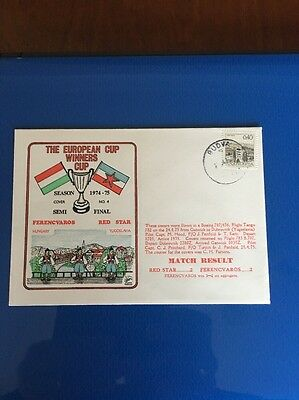 Ferencvaros V Red Star First Day Cover. Flown. European Cup Winners Cup 1974/75