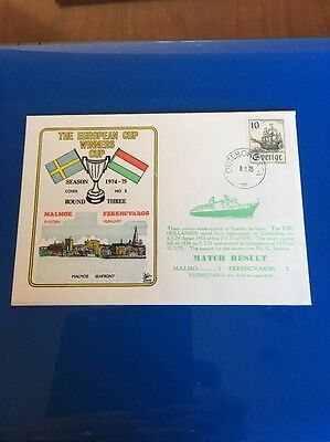 Malmoe V Ferencvaros First Day Cover European Cup Winners Cup 1974/75