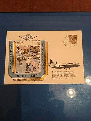Juventus V Manchester United First Day Cover. Flown. Rare UEFA Cup Cover. 1976
