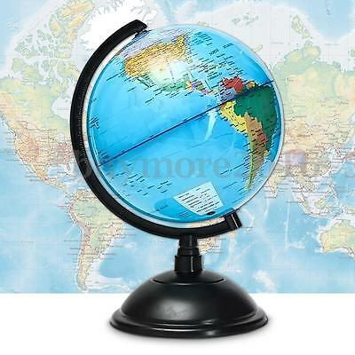 20cm Geography Educational Blue Ocean World Globe Map With Swivel Stand Gift Toy