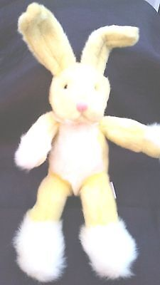"Russ -Bendy -Yellow Bunny Rabbit - 10"" Plush Soft Posable Toy - Lovely Condition"