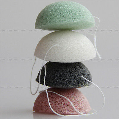 4 Colori Natural Konjac Konnyaku Fiber Sponge Puff Pulizia Viso Face Cleaning