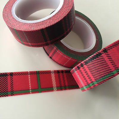 Washi Tape Outlander Tartan 15Mm X 10Mtr  Planner Craft Scrap Wrap Mail Art