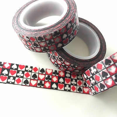 Washi Tape Full Deck 15Mm X 10Mtr Roll Planner Craft Scrap Wrap