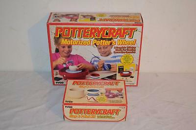 Vintage Tyco Potterycraft Potters Wheel w Clay & Paint Kit  NEW IN BOX