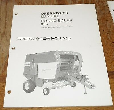 sperry new holland 855 round baler operator s manual serial rh picclick com 1086 Pulling New Holland Round Baler New Holland Baler