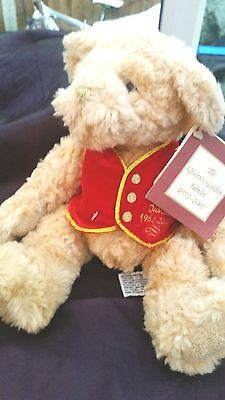 "Russ- The Queens Golden Jubilee -11"" Plush Soft Teddy - 2002 - New With Tags"