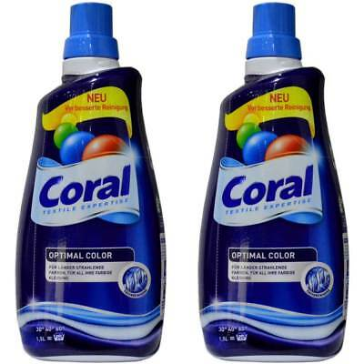 2x Coral Optimal Color Textile Expertise Für Farbige Kleidung - 1500ml