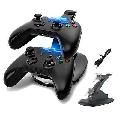 Au Stock Dual Usb Charger Docking Station Charging Stand Fr Xbox One Controller
