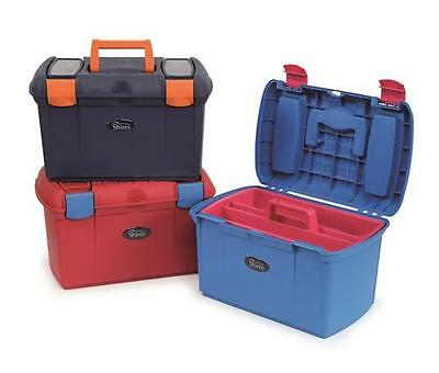 Shires Two Tone Grooming Tack Box - 3 Colours, Robust