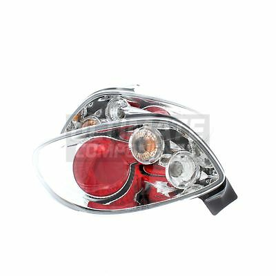 Peugeot 206 Hatchback 1998-6/2003 Rear Back Tail Lights Lamps Chrome 1 Pair