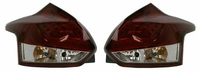 Ford Focus Mk3 Hatch 2011-2014 Led Light Bar Tail Lights Lamps Red Clear 1 Pair