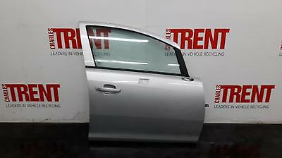 2010 VAUXHALL CORSA D 5 Door Hatchback Silver Drivers Right Front Door (431847)