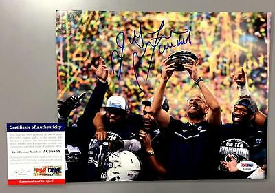 James Franklin Signed Penn State 2016 Big Ten Champs 8X10 Photo Psa Coa Ac66868
